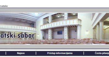 web Hrvatski sabor