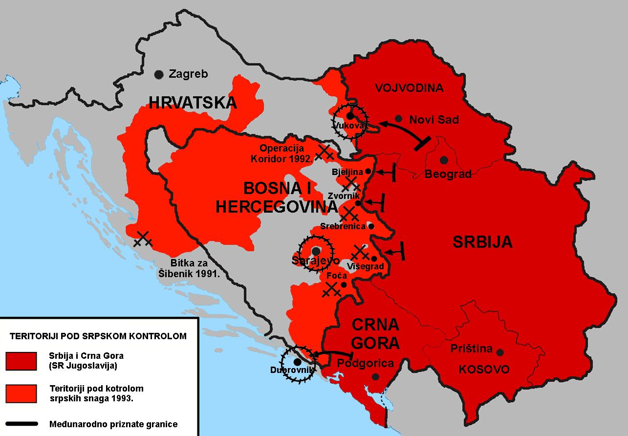 """Slikovni rezultat za hrvatska okupirano područje 1991."""""""